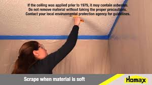 how to repair popcorn ceiling texture youtube