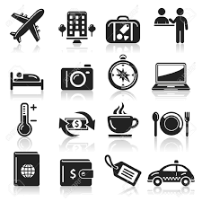 Travel Icons Set Royalty Free Cliparts Vectors And Stock