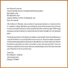 12 example of a financial aid appeal letter