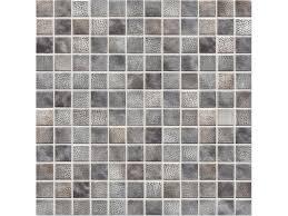 Iridescent Mosaic Tiles Uk by Kauri Grey Mix Glossy