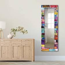 ganzkörperspiegel holzrahmen wandspiegel design spiegel