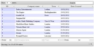 jQuery DataTables Advanced Filtering in ASP NET MVC jQuery