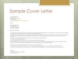 Job Application Letter Cover