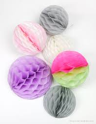 DIY How To Make Honeycomb Pom Poms From Tissue Paper