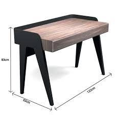 bureau noir laqué bureau bois laqué noir design noyer pablo retro savelon