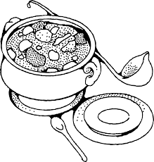 Salad Clipart Black And White
