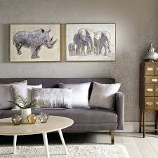 Metallic Canvas Art Elephant Family Framed Wall Diy