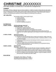 Child Care Resume Examples As Profile Within Sample