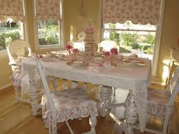Shabby Chic Dining Room Table And Chairs by Shabby Chic Bedding Ivory Tufted Faux Leather Dining Chairs Brown