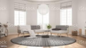 unschärfe hintergrund innenarchitektur skandinavische minimalistische wohnzimmer mit sofa sessel und teppich stockfoto und mehr bilder 1980 1989