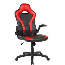 amstyle gaming drehstuhl bezug kunstleder schwarz rot