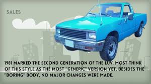 A Short History Of The Chevy LUV Compact Truck - Video Dailymotion Car Shipping Rates Services Chevrolet Luv A Little Luv Goes Long Way Tim Payne 2012 Chevy 4x4 Ls 30 Dmax Turbo Diesel Isuzu I Drove Through Original Cruising Around 1979 Mikado Youtube For 4000 Whats Not To For Sale At Texas Classic Auction Hemmings Daily Filechevy Second Genjpg Wikimedia Commons Cars You Should Know Streetlegal Drag Truck Hooniverse That Luvs The Quarter Mile Speedhunters