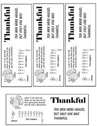 Bookmarks Black White Thanksgiving Turkey One Thankful Man Ten Lepers Bookmark