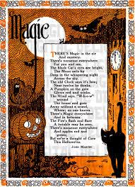 Poems About Halloween by Large Rare Splendiferous Halloween Digital Download Poemm