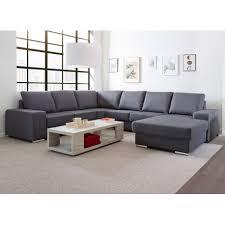 canap d angle en tissu canapé d angle 7 places avec méridienne lucius univers du salon