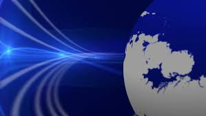 Breaking News Rotating Earth Blue Motion Background Image Courtesy Of NASA Eol