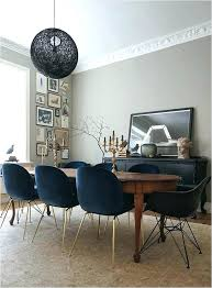 Upholstered Dining Room Chairs Navy Blue Tufted Chair Model Elegant Simple Upholstery Fabric