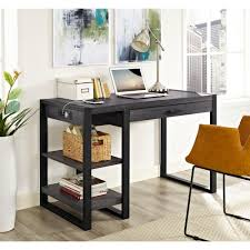 Walker Edison 3 Piece Contemporary Desk by Walker Edison Furniture Company Urban Blend Charcoal Desk With