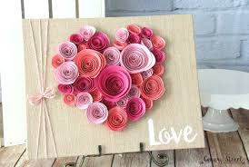 Curl Paper Flowers And Glue Them To A Burlap Canvas Would Be Cute For Valentines