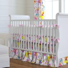 watercolor floral crib bedding carousel designs
