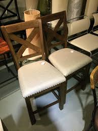 Bar Stools SET of 2 Moriville gry upholstered