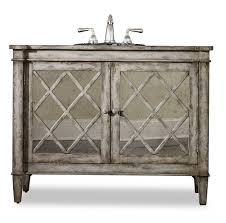 White French Country Bathroom Vanity by 44 Inch Single Sink Bathroom Vanity In Antiqued Parchment 44