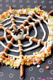 Halloween Pretzel Rods by Pretzel Candy Spiderwebs For Halloween