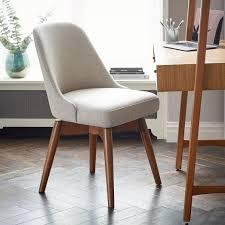mid century swivel office chair west elm