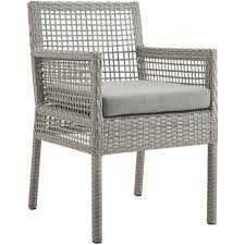 Aura Outdoor Gray Wicker Rattan Dining Armchair W/ Gray Fabric By Modway 9363 China 2017 New Style Black Color Outdoor Rattan Ding Outdoor Ding Chair Wicked Hbsch Rattan Chair W Armrest Cushion With Cover For Bohobistro Ica White Huma Armchair Expormim White Open Weave Teak Suma With Arms Natural Hot Item Rio Modern Comfortable Patio Hand Woven Sidney Bistro Synthetic Fniture Set Of Eight Chairs By Brge Mogsen At 1stdibs Wicker Derektime Design Great Ideas Warm Rest Nature