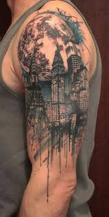 Awesome Half Tattoo Design For Men