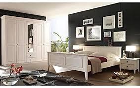 schlafzimmer komplett riva 4er set kiefer massiv weiss