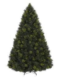 Ge Artificial Christmas Tree Replacement Bulbs by Martha Stewart Living 7 5 Ft Pre Lit Led Downswept Denison Spruce