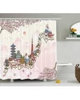 Japanese Cherry Blossom Bathroom Set by Holiday Deal On Floral Shower Curtain Japanese Sakura Cherry