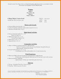 High School Student Resume Examples Unique 5 Scholarship Template Of