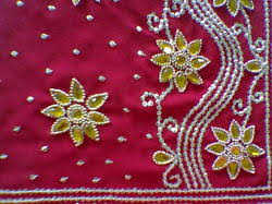 Embroidery SAREE STONE WORK