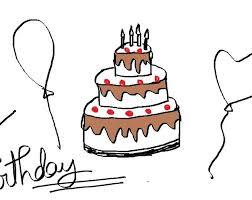 Simple Birthday Drawings illustration