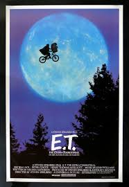 One Of The Most Wondrous Poster Images All Time Image Young Elliot And His New Extra Terrestrial Friend Flying Past Moon On A Bicycle Is