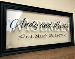 Farewell Gift Wedding Last Name Sign Personalized Couple Couples Wall Art