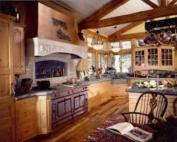 Large Carved Range Hood Frame Design Also Fabulous French Country Kitchen With Eposed Beam Ceiling And