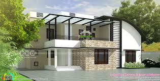 100 Contemporary Modern House Plans Curved Roof Mix Plan Kerala Home Design And Beautiful