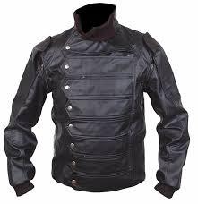 Bucky Barnes Captain America leather jacket For USA Canada