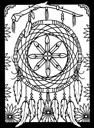 Native American Dreamcatcher Coloring Pages