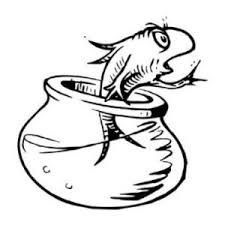 Dr Seuss Coloring Pages One Fish Two