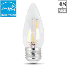feit electric 60 watt equivalent daylight b10 dimmable clear