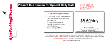 SeaTac Parking Coupons Available Here From Ajax Parking R Us Atlanta 131 Coupon Code Play Asia 2018 A1 Airport Parking Deals Australia Galveston Cruise Discounts Coupons And Promo Codes Perth Code 12 Discount Weekly Special Fly Away Parking Inc Auto Toonkile Mk Seatac Available Here From Ajax R Us Dia Outdoor Indoor Valet Fine Winner Myrtle Beach Restaurant Coupons Jostens Bna Airport