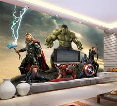 Superhero Room Decor Uk by Find More Wallpapers Information About 3d Wallpaper The Avengers