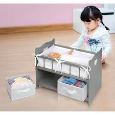 Badger Basket Doll Bed by Badger Basket Doll Crib With Two Baskets Executive Gray