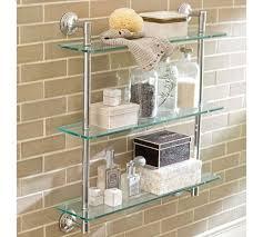 Pottery Barn Sea Glass Bathroom Accessories by Mercer Triple Glass Shelf Pottery Barn