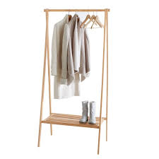 bamboo folding clothes rack with shelf foldingclothes