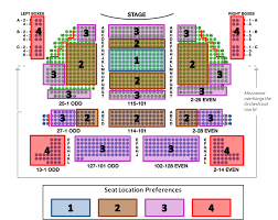 Detailed Seating Chart for The Book of Mormon at Eugene O Neill